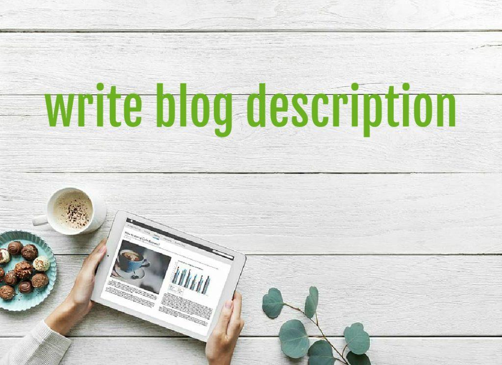 Writing Blog Description